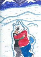 Arctic Embrace (SKETCH) by LonelyWerewolf123