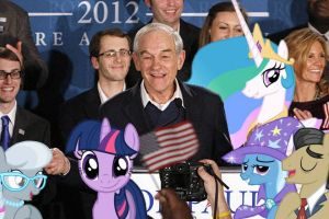 Everypony Goes For Ron Paul by RicRobinCagnaan