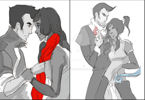 Two Makorra sketches by cantalopus