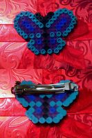 Butterfly Hair Barrette by cadillacphunque