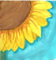 Watercolor Sunflower [Fail] by Moonylight12