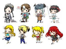 Chibis BATCH 1 by konoesuzumiya