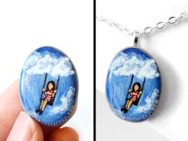 Cloud Swing Pendant Necklace by sobeyondthis