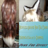 Brown fox ear and tail set by THEGREATTITANICCHICK