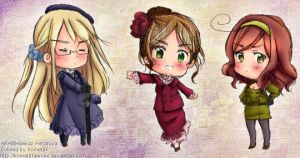 APH: Nyotalia girls by KometaFaerone