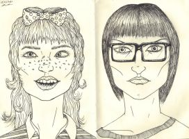 Two Random Portraits by WerterSkelterNOW