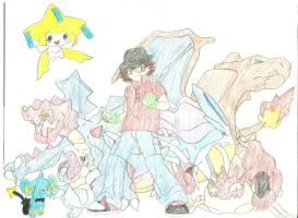 My Pokemon Team- Coloured by Purdy26