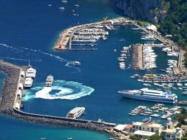Capri Port from Bird's View by AgiVega