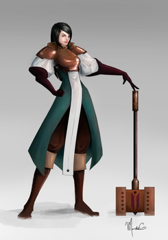 Clio - Concept Art by mgarciam