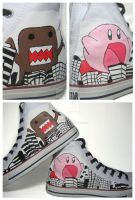 Domo-kun Kirby Converse by TheProductionist