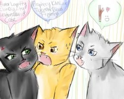 THE THREE :3 by firestar21