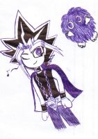 Yami and Kuriboh by PharaohsDarkness