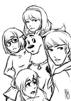 Scooby Doo as an Anime by Nychii