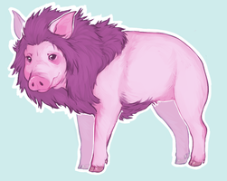 Maned Pig by SmidgeFish