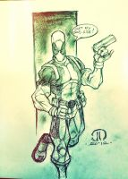 Dead Pool MCBA Con sketch by JoeyVazquez