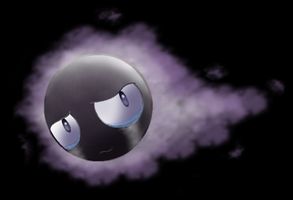 Sad gastly by Thunderwest