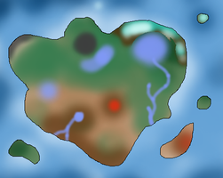 Map of the CoC:DH World by Dianamond