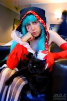 Catfood Miku - With Her Boys by Midnight-Dare-Angel