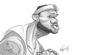 LeBron by bangalore-monkey