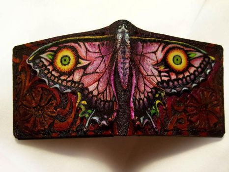 Majora Larvatum Papilio Leather wallet 2 by Bubblypies
