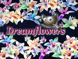Dream flowers GIMP Brush by phamexpress12