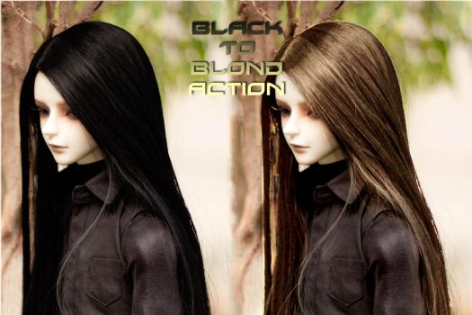 Black Hair To Blond Action by raidmkh
