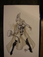 Thor Girl from SDCC 2011 by billmausart
