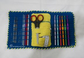 Crochet hook Case open by GehadMekki