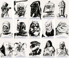 Star Wars Sketch Cards - Scum and Villainy by clayrodery