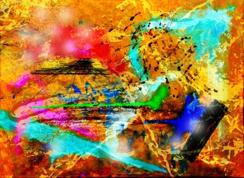 Abstract in Yellow by dodadart