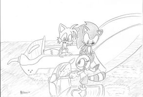 Sonic, Tails, and Marine by AdiPrower94