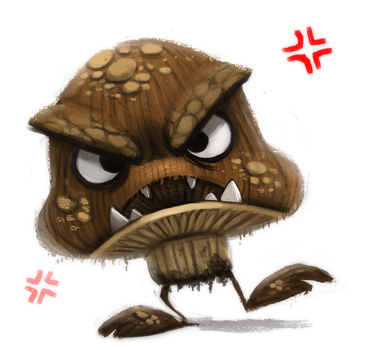 Day 712. Mario - Goomba by Cryptid-Creations