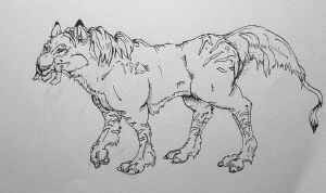 Wild Tusk Cat by Cailey5586