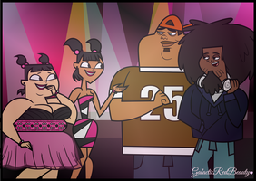 Katie, Sadie, B, and Beardo - Meeting at the Club! by Galactic-Red-Beauty