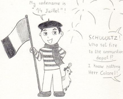 He is celebrating 14 of July by maddy-winkel