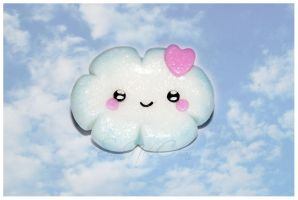 Kawaii Cloud Pin by SaraNekoChan