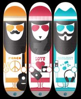 Peace.Love.Harmony Skate Decks by ONGoingDrifter13