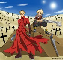 Kingdom Hearts: TRIGUN by DeathscytheVII