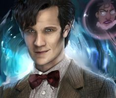 Doctor who portrait by IndI-Art