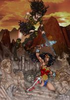 Wonder Woman Vs Xena by faceaway