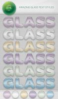 Amazing Glass Text Styles by Romenig