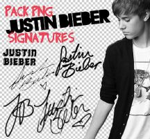 Justin Bieber signatures png by Disneystarstodo
