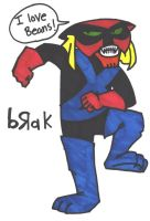 brak seems to enjoy beans. by attackedbysnakes