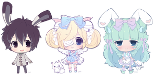 Mini Chibi Commissions #2 by Yoai