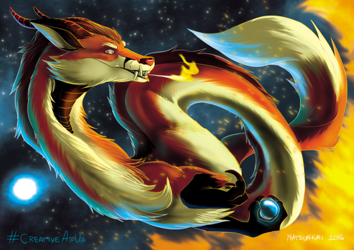 Fox Dragon by Natsuakai