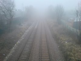 Fog and frost on the railway 1 by rudeturk