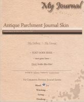 Antique Parchment Journal Skin by JeffrettaLyn