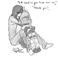 Umami I know you want to hug her but stop that by Zanyzarah
