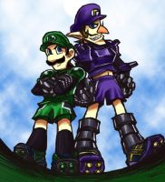 Luigi and Waluigi 3 by tekoyo