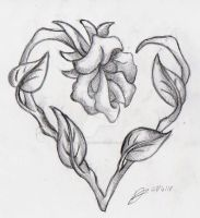 Tattoo Design: rose by supersmeg123